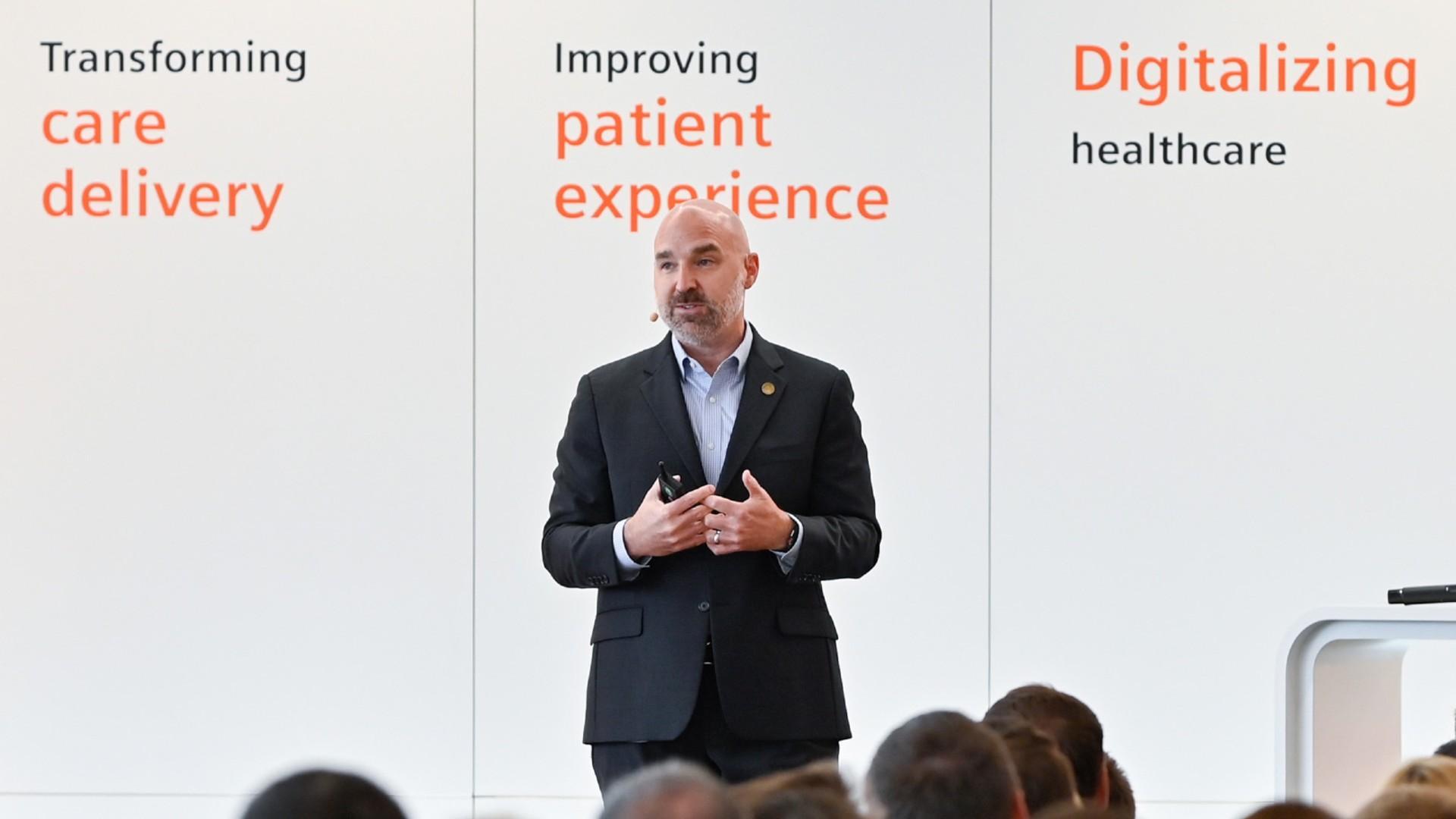 Jason Wolf at the Siemens Healthineers Talks