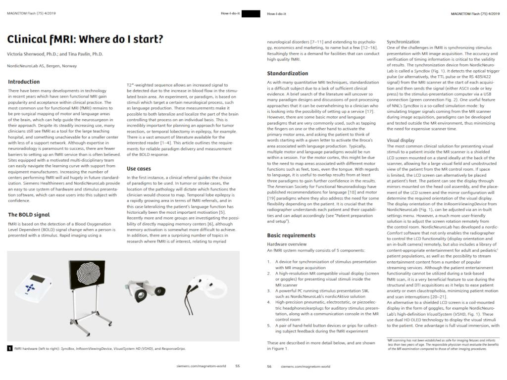 Clinical fMRI: Where do I start?