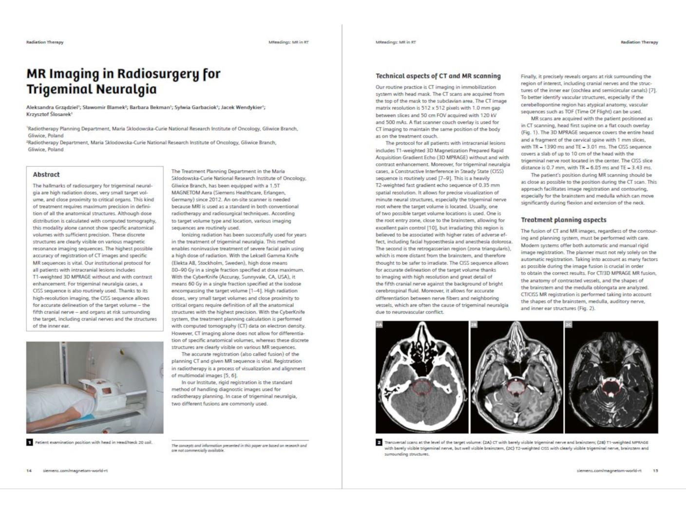 MR Imaging in Radiosurgery for Trigeminal Neuralgia