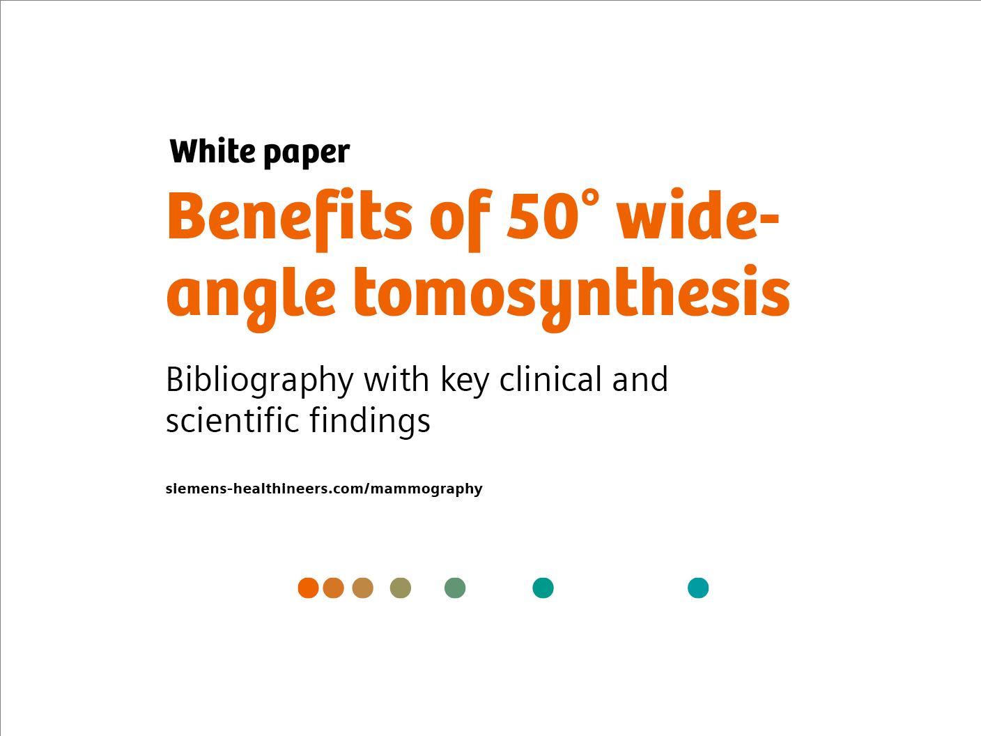 Benefits of 50° wide-angle tomosynthesis - Bibliography with key clinical and scientific findings