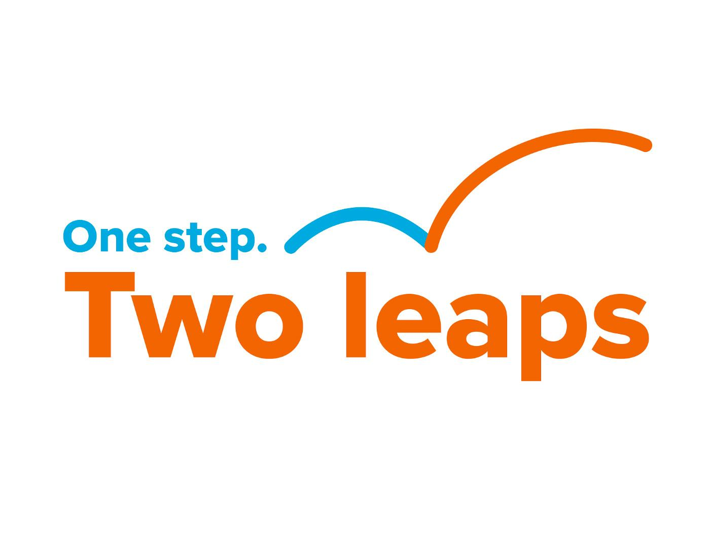 One step Two leaps