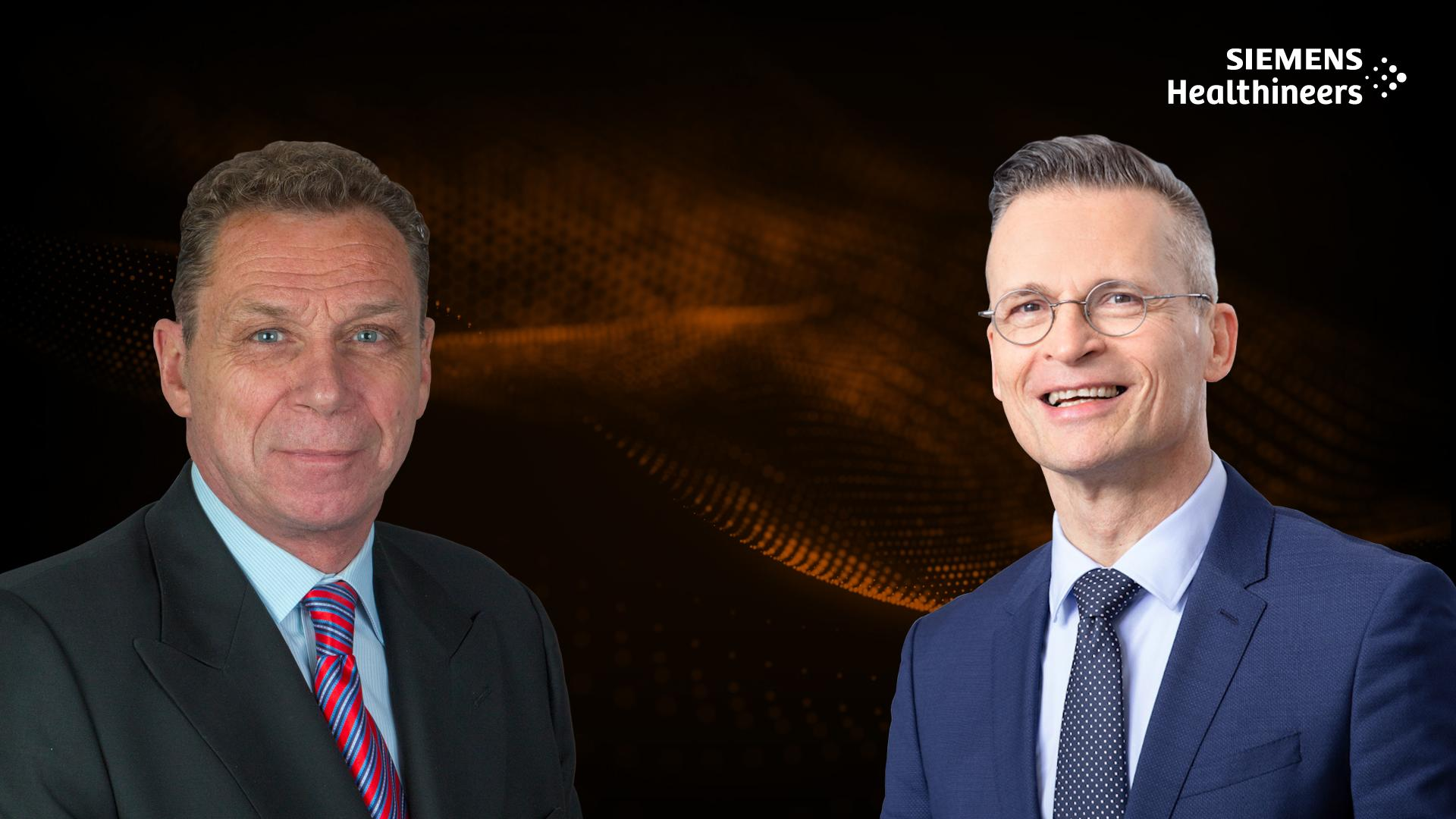 In this podcast, Dieter R. Enzmann (l.) and Christoph Zindel discuss how decentralization could help improve care delivery