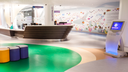 The unique reception desk, shaped as a ship, greet patients and visitors of GOSH.