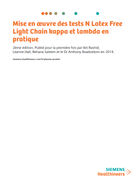 Page de garde du livre blanc sur les dosages N Latex FLC kappa et lambda —Siemens Healthineers