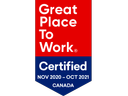 Great Place to Work-certified company® in Canada for 2020-2021
