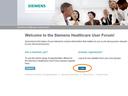 Login to the Siemens Healthcare User Forum