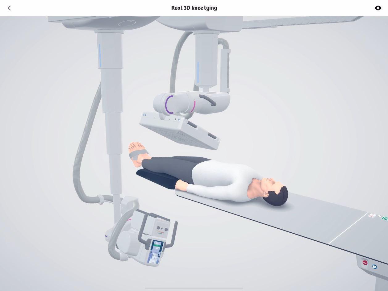 Real 3D knee lying