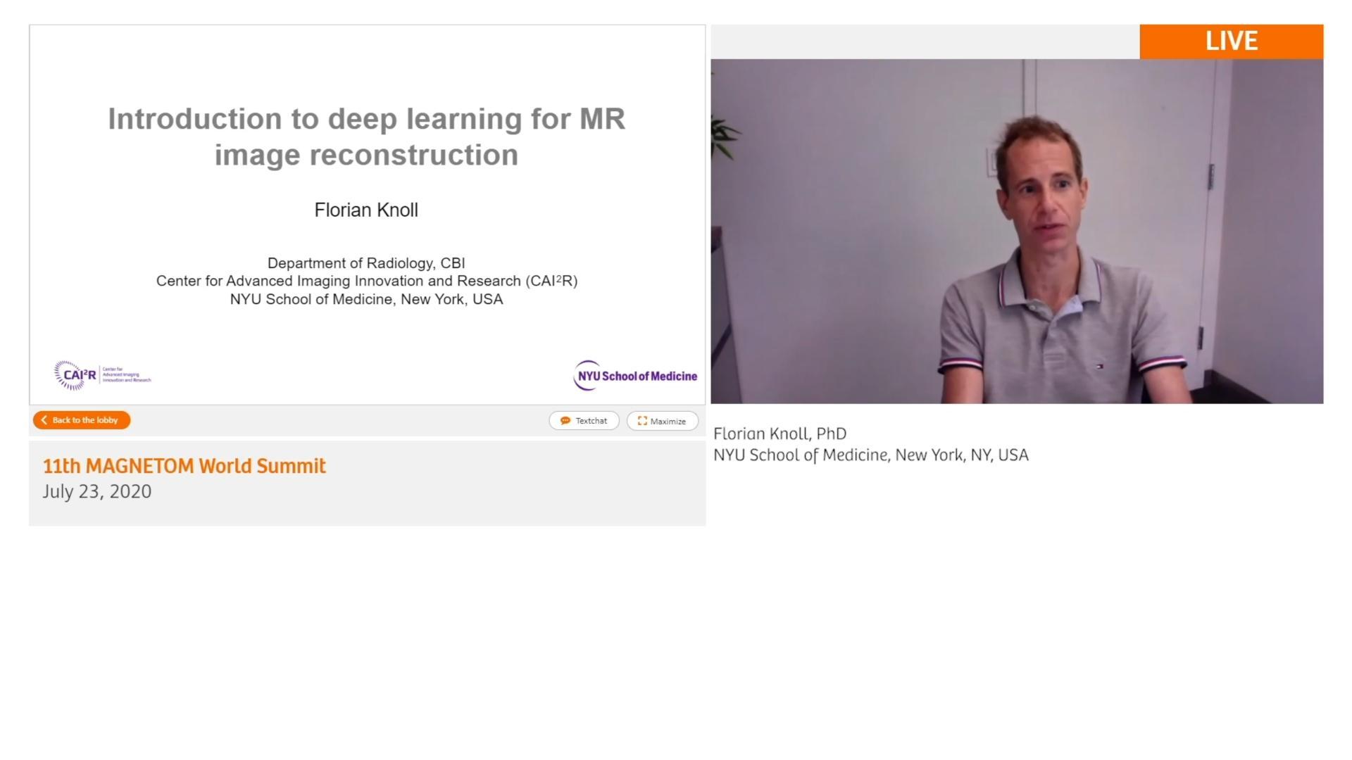 Preview Clinical Talk Florian Knoll