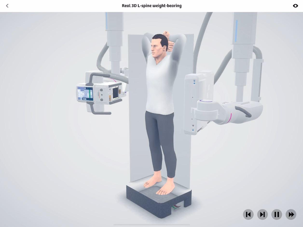 Real 3D L-spine weight-bearing