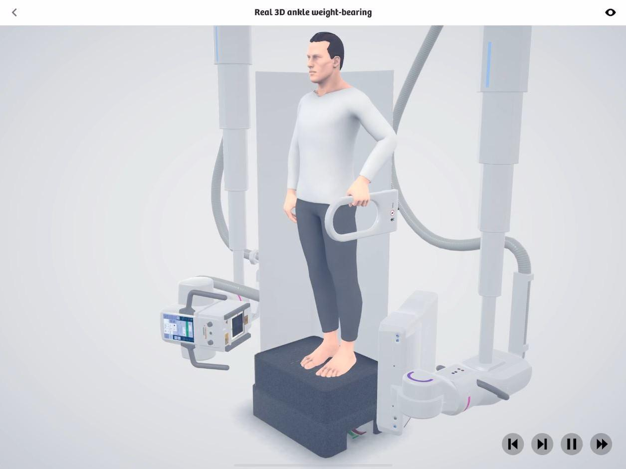 Real 3D ankle weight-bearing