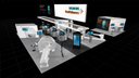A 3D representation of the Siemens Healthineers virtual booth at SNMMI 2020.