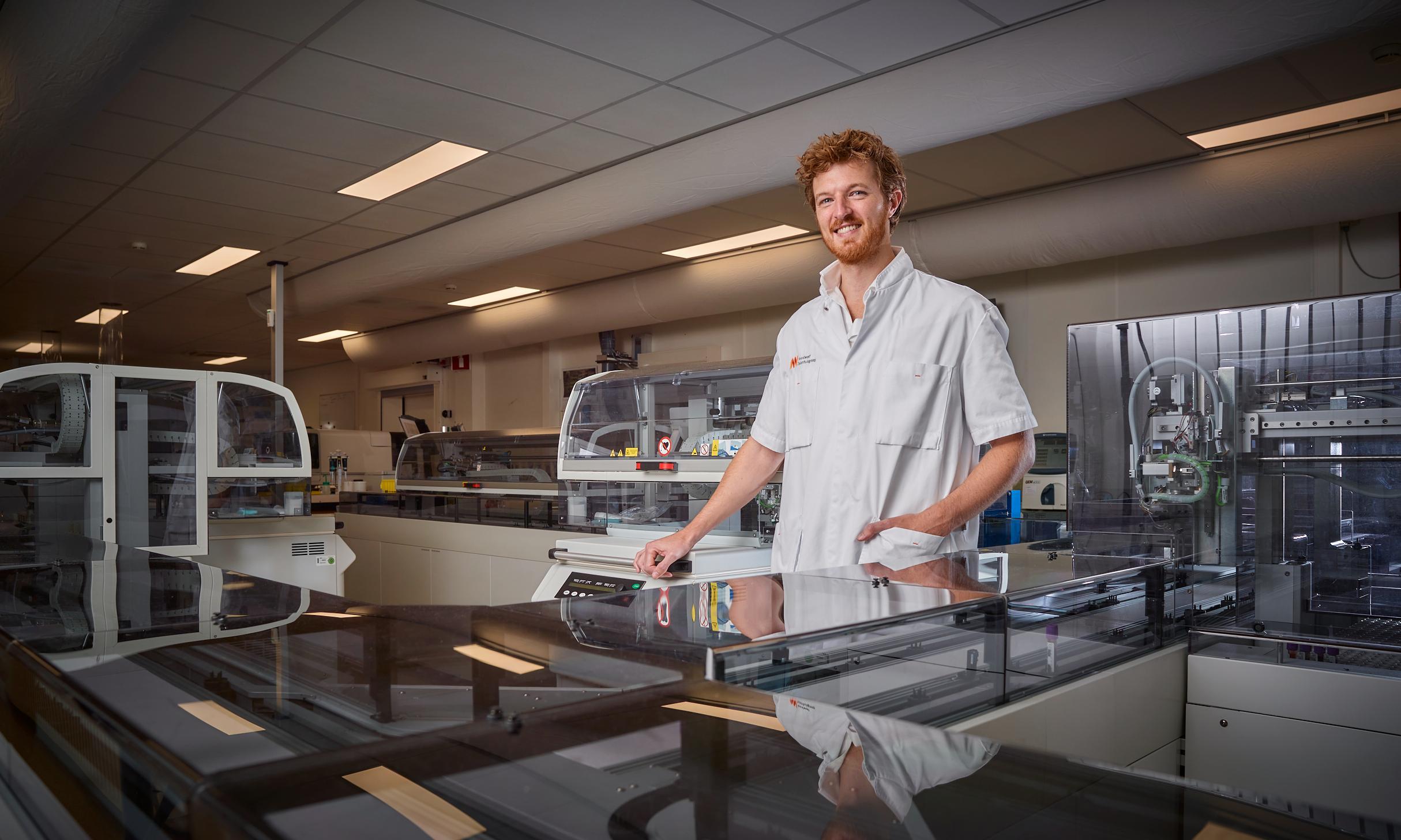 Klinisch chemicus Wesley Jongbloed, medisch manager bij NWZ