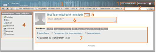 Profilseite eines KUM-Teamsmitglieds