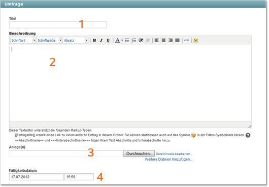 KUM-Teams Umfrage konfigurieren