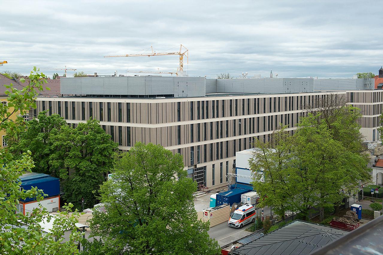 Das im Bau befindliche Klinikum Innenstadt, ein neues Gebäude des LMU Klinikums im Zentrum Münchens.