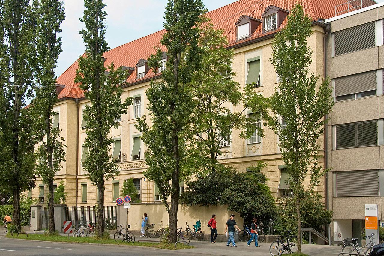 Das Gebäude des Dr. von Haunerschen Kinderspitals des LMU Klinims München in der Lindwurmstraße 4. Es beheimatet die Kinderklinik und die Kinderchirurgische Klinik.