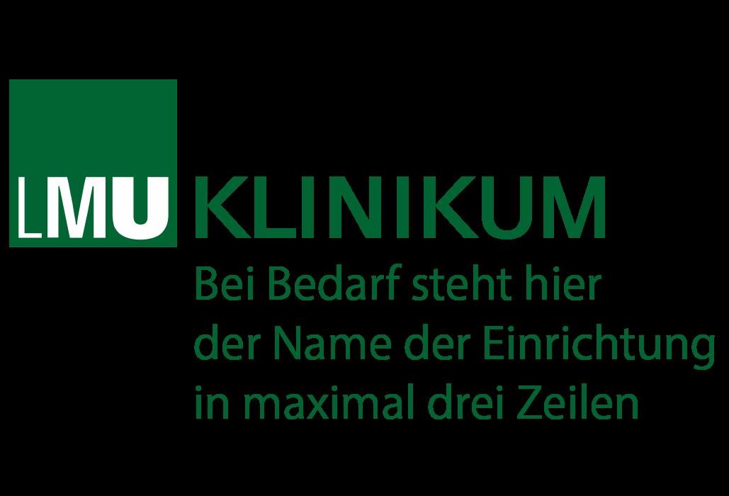 Muster Logo LMU Klinikum für Einrichtungen