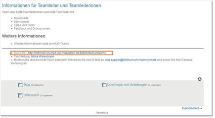 KUM-Teams URL