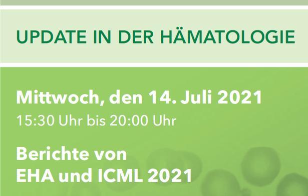 Logo der Veranstaltung: Update in der Hämatologie 14.07.2021