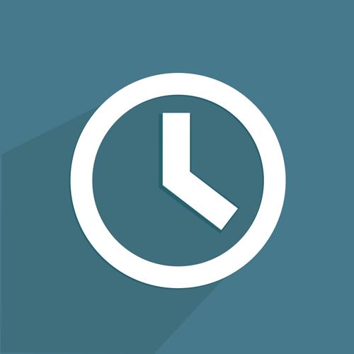 Grafik Support Zeiten Uhr