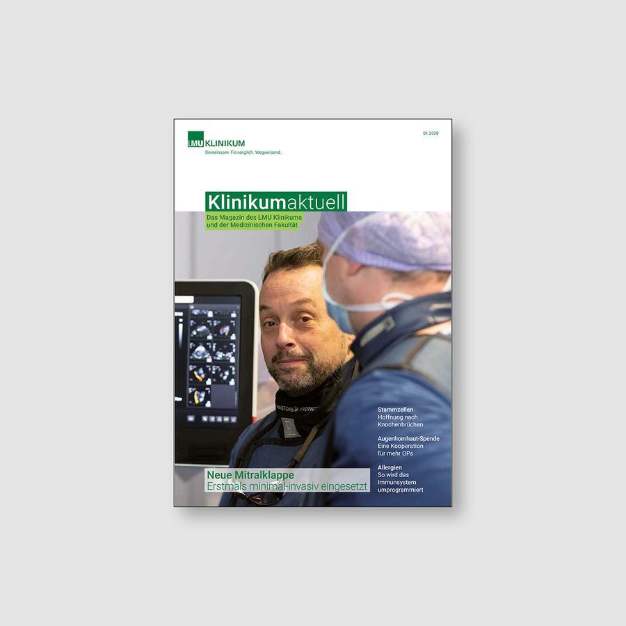 Die Titelseite der Ausgabe 1/2020 Klinikum aktuell
