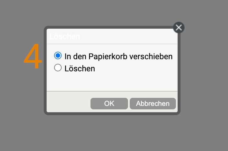 Datei in den Papierkorb verschieben