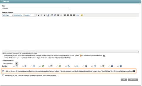 KUM-Teams WebDAV aktivieren