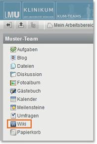 KUM-Teams Arbeitsbereich Wiki