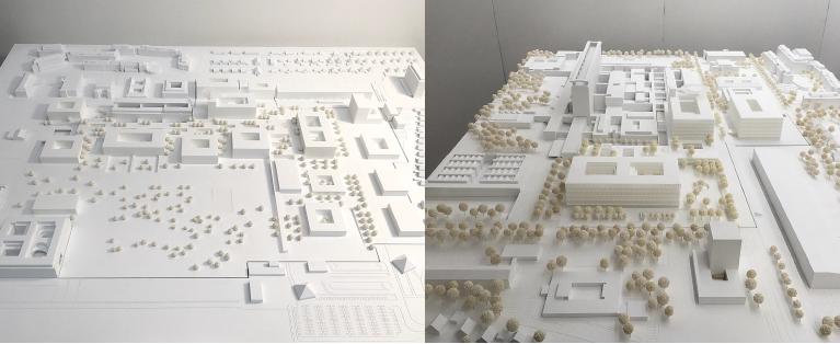 Architekturmodell vonOBERMEYER Planen + Beraten GmbH München