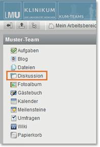 KUM-Teams Arbeitsbereich Diskussion