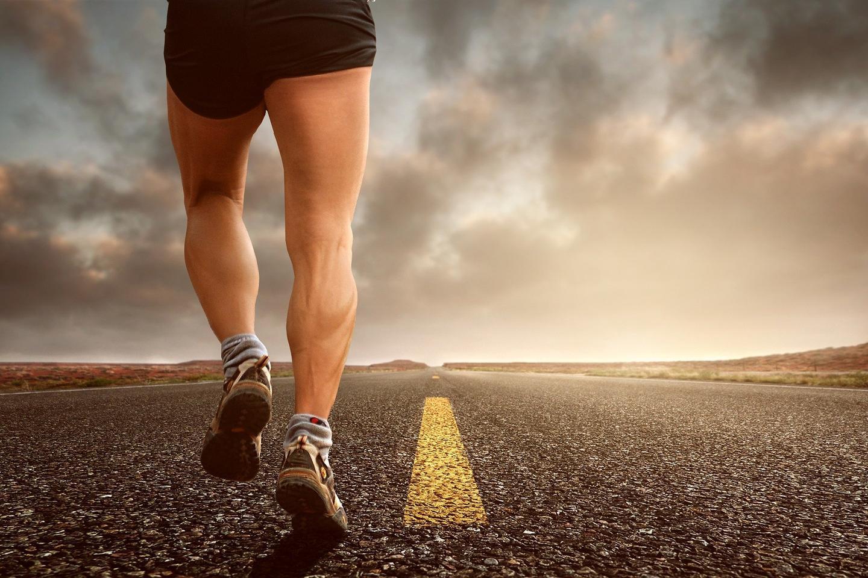 Sportler, der läuft