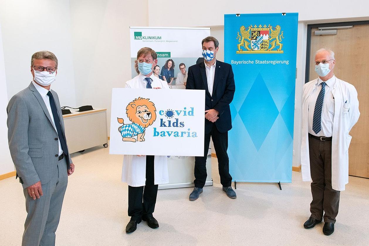Pressefoto zum Start der Studie COVID Kids Bavaria