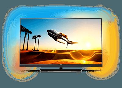 """Rudelgucken mit dem riesen 55"""" 4K Ambilight Smart TV im sparstrom.de-Tarif"""