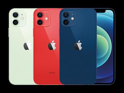 Apple iPhone 12 mini in 3 verschiedenen Farben