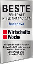 Beste Zentrale Kundenservice - Energieversorger (regional)