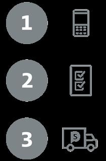 Bestellvorgang bei sparstrom: 1. Tarifrechner nutzen 2. Tarif wählen und Bestellung aufgeben 3. Fertig - wir erledigen den Rest
