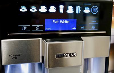 Kaffeevollautomat Siemens EQ6 plus s700 Menü
