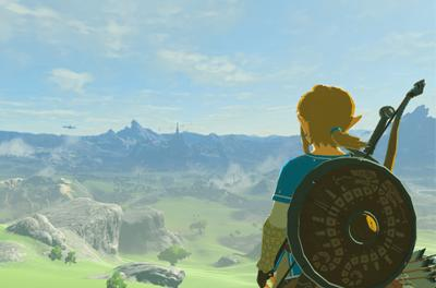 The Legend of Zelda: Breath of the Wild Held Link