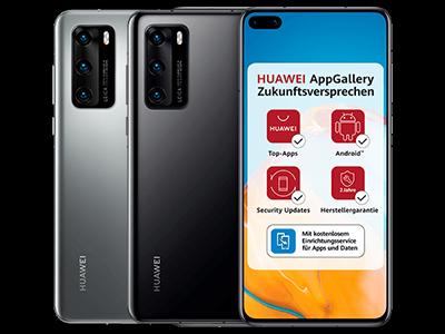 Huawei P40 in schwarz und silber
