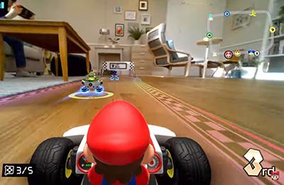 Mario Kart Live - Ausschnitt aus dem Spiel