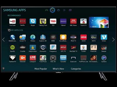 Samsung 65 Zoll Fernseher Smart TV Apps