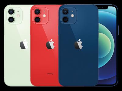 Apple iPhone 12 in 3 verschiedenen Farben