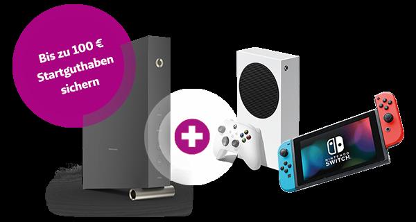 Internet + Xbox Series S oder Nintendo Switch