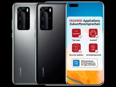 Huawei P40 Pro in schwarz und silber