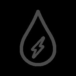 Wassertropfen Icon Sparstrom