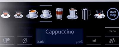 Siemens Kaffeevollautomat EQ.6 plus s100 Display