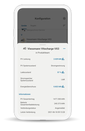 Die wibutler-App enthält alle wichtigen Informationen des Stromspeichers
