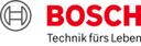 Das Logo der Robert Bosch GmbH in roten Buchstaben.