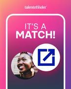 Bild zeigt die Nutzeroberfläche von talentefinder, wenn ein Match erzielt wurde.