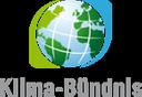 Das Logo von Klima-Bündnis. Eine Weltkugel mit dem Namen Klima-Bündnis in grauen Buchstaben darunter.